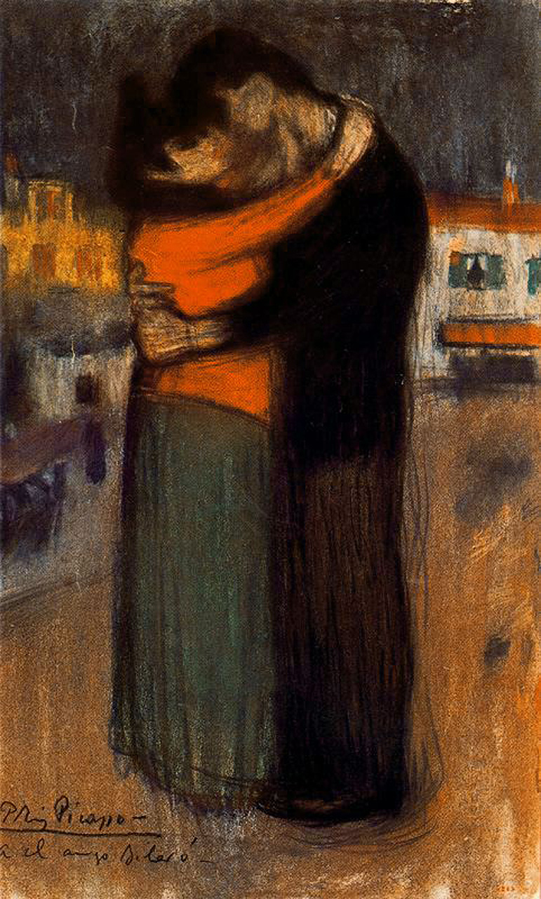 Picasso Lovers of the street 1900