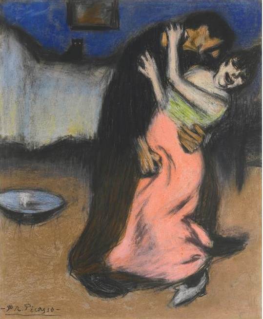 Picasso The brutal embrace 1900