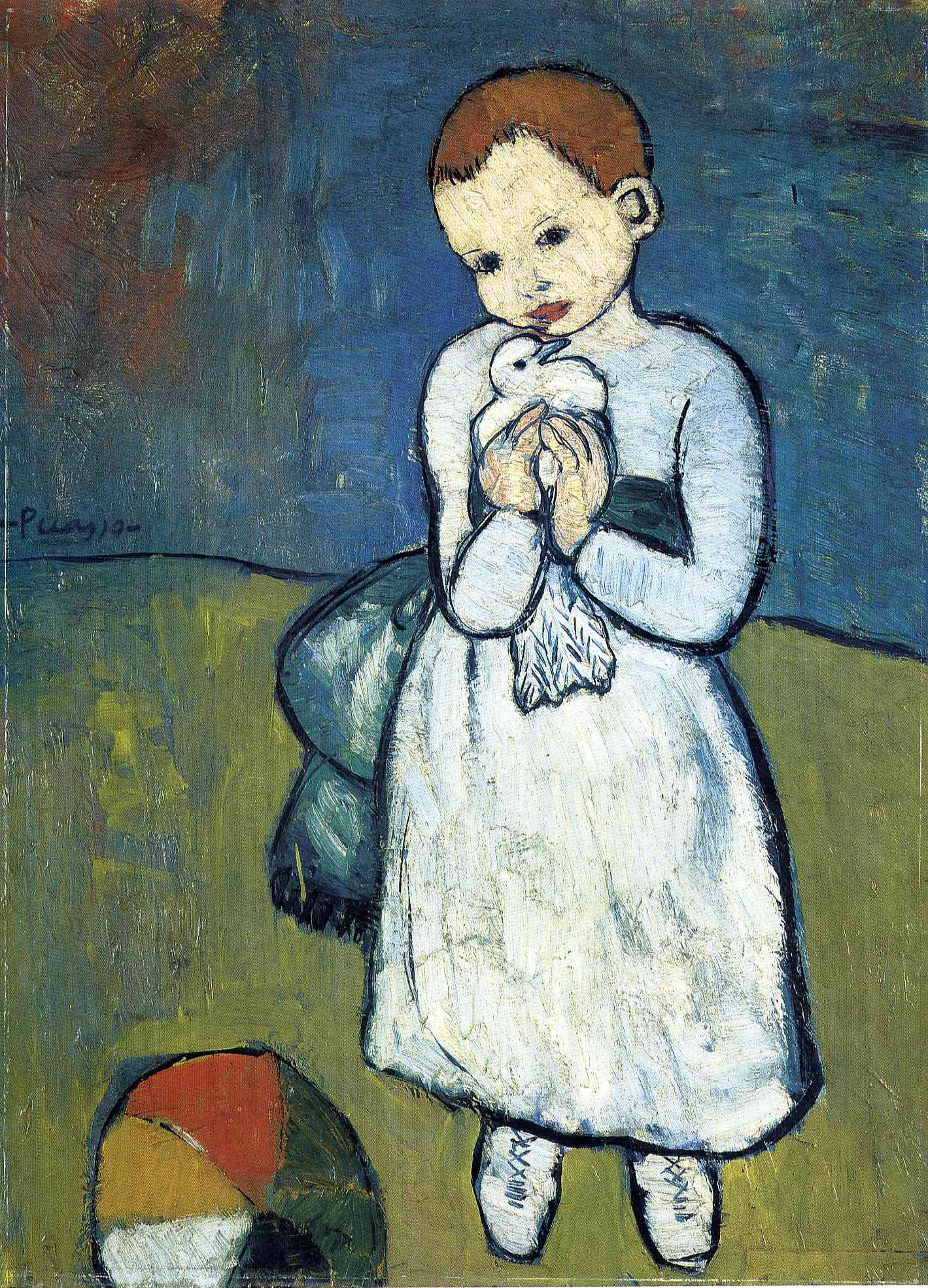 Picasso Child with dove 1901