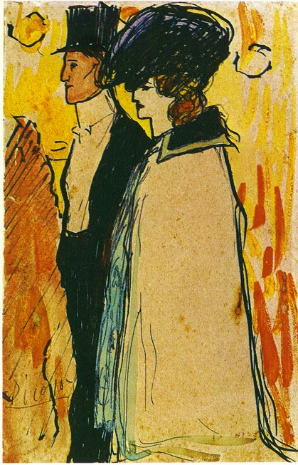 Picasso Couple walking 1901