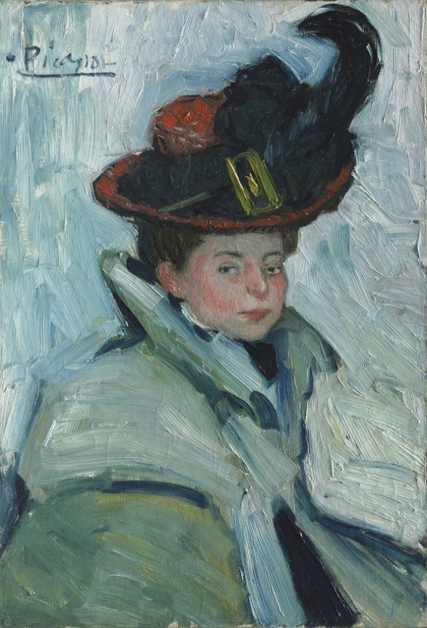 Picasso Woman with hat 1901