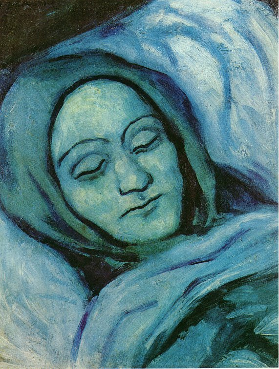 Picasso Head of dead woman 1902