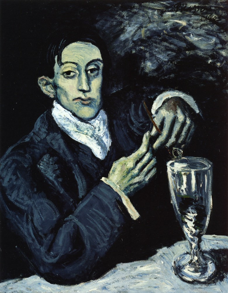 Picasso The Absinthe Drinker. Portrait of Angel Fernandez de Soto 1903