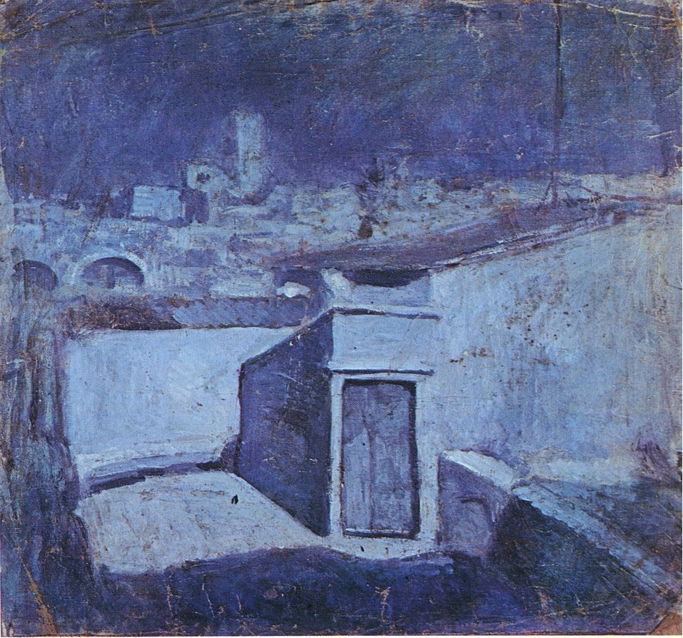 Picasso The roofs of Barcelona in the moonlight 1903