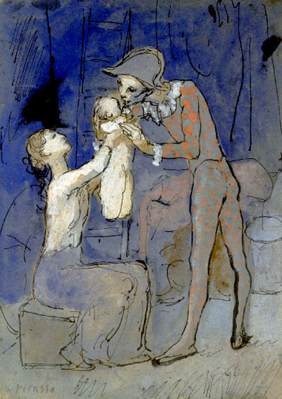 Picasso Harlequin's family 1905