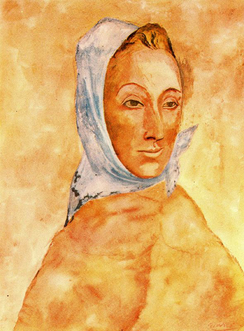 Picasso Portrait of Fernande Olivier in headscarves 1906