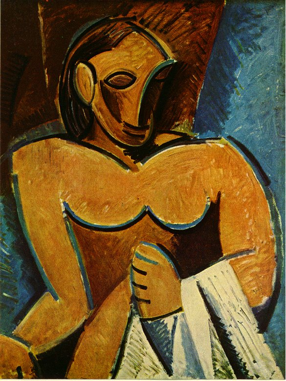 Picasso Nude with towel 1907