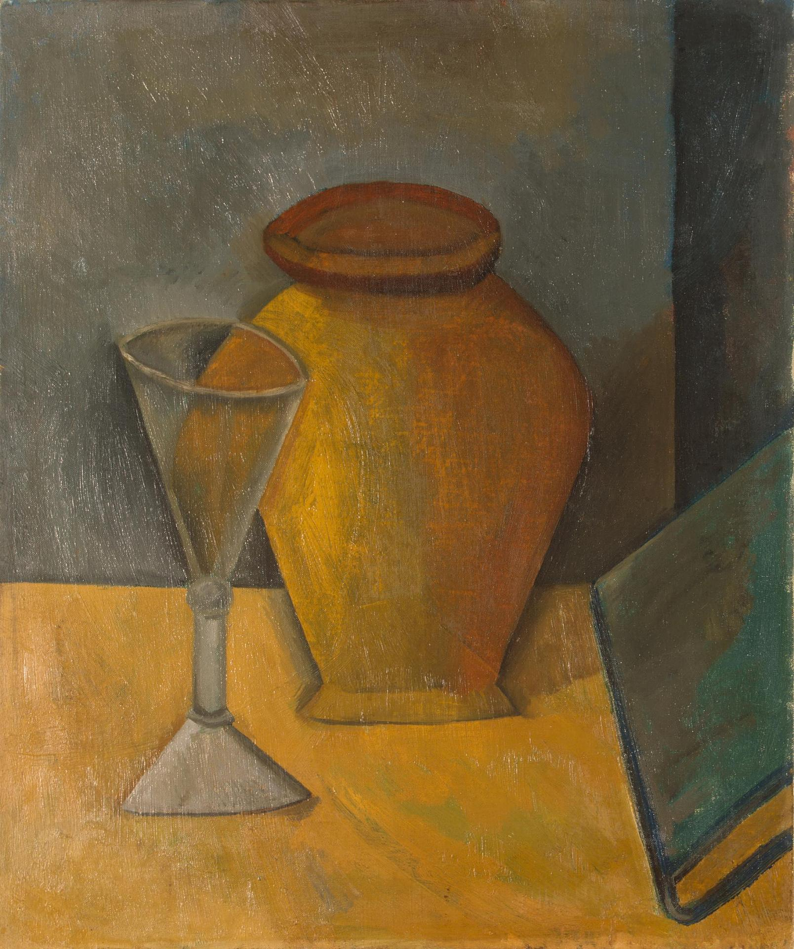 Picasso Pot, Glass and Book 1908