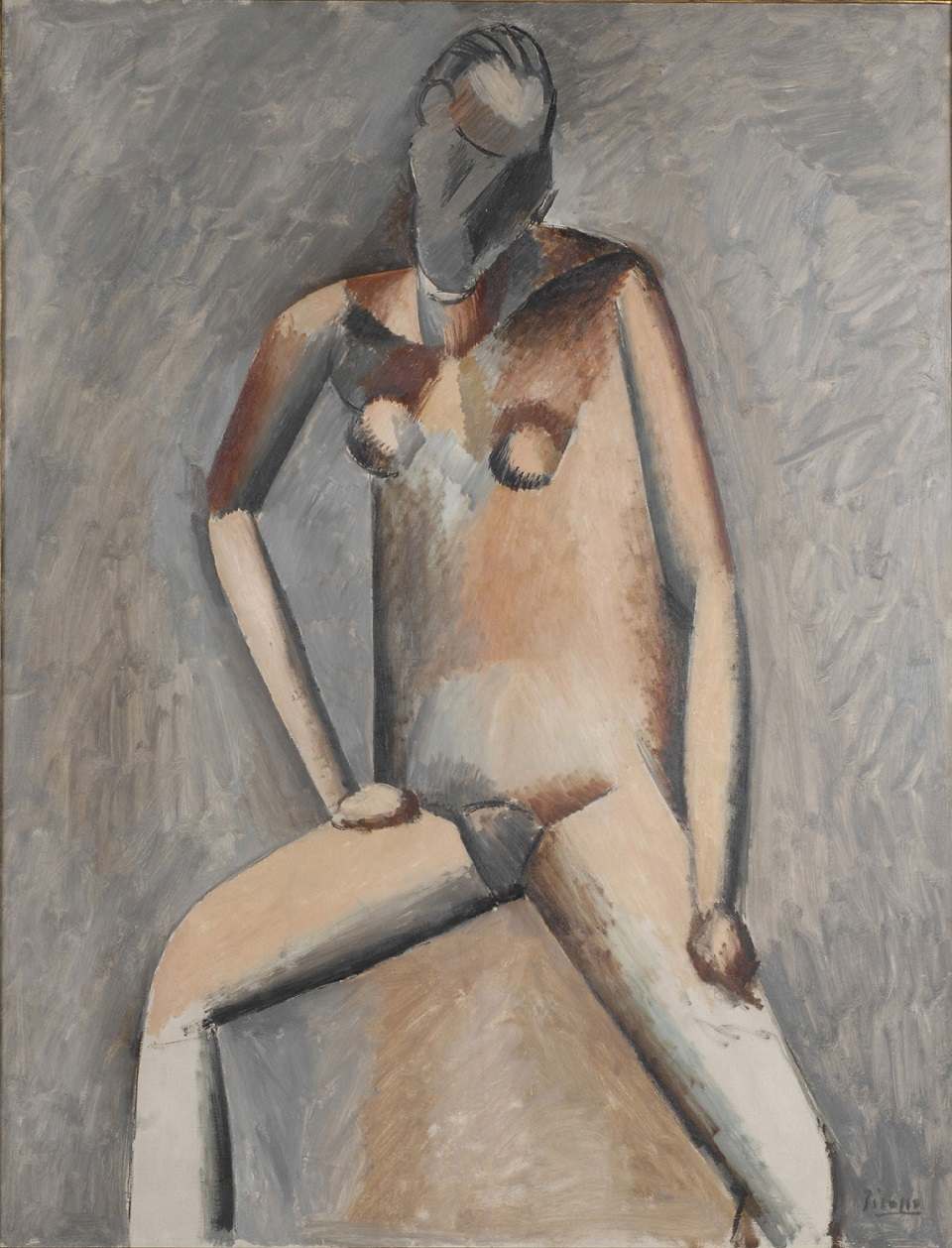 Picasso 1908-1909 Seated Female Nude
