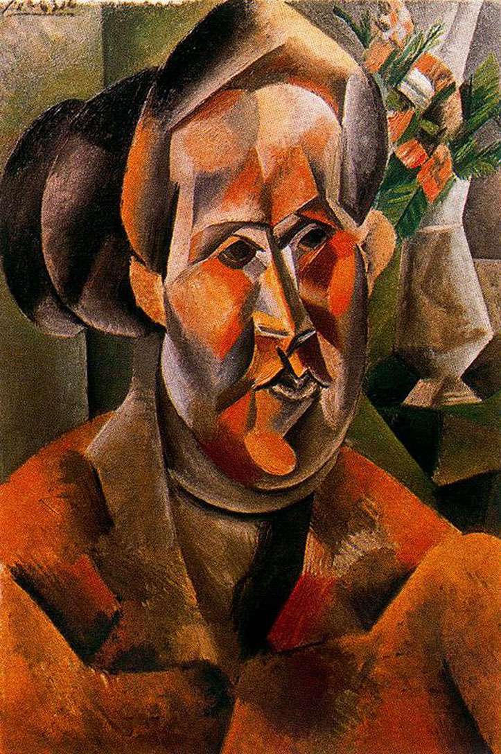 Picasso Bust of woman with flowers 1909