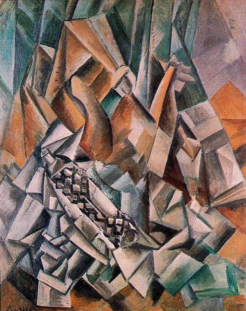 Picasso Still life with bottle of Anis del Mono 1909