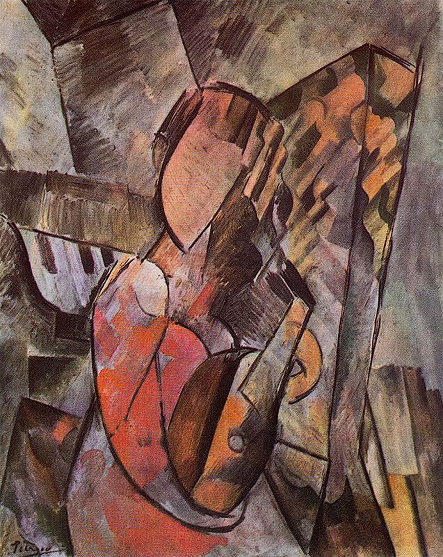 Picasso Woman with mandolin 1909