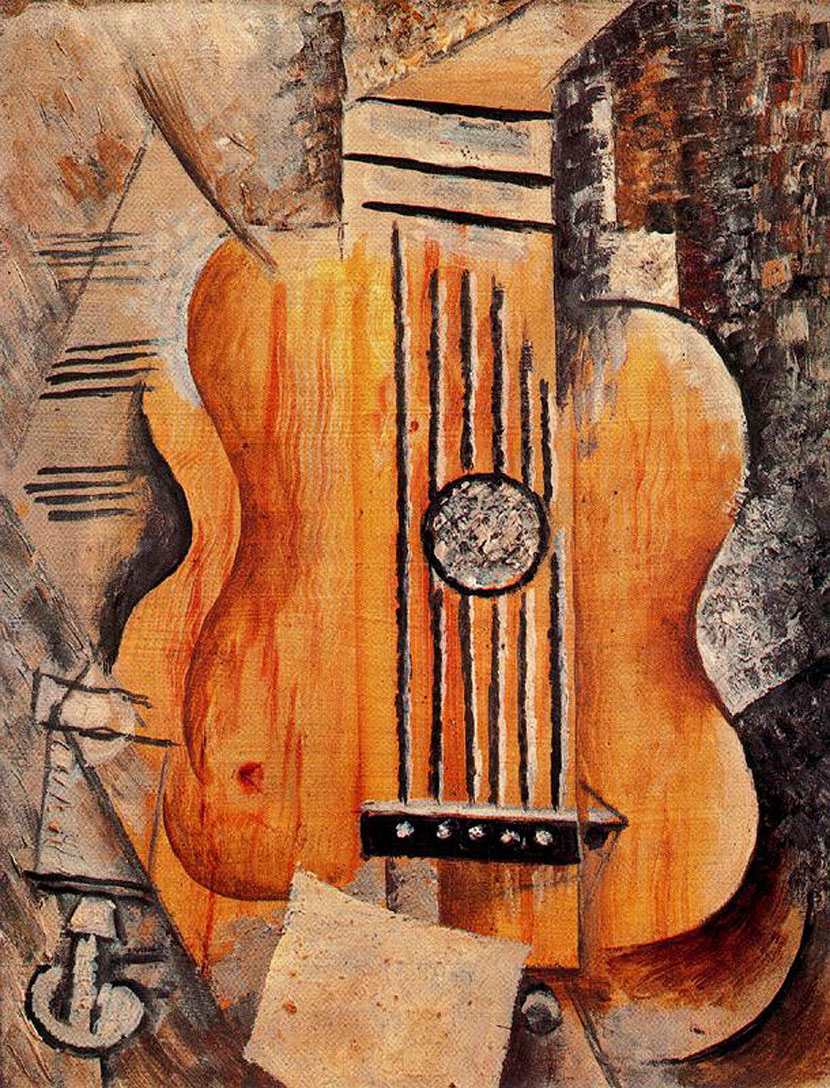 Picasso Guitar. I love Eva 1912