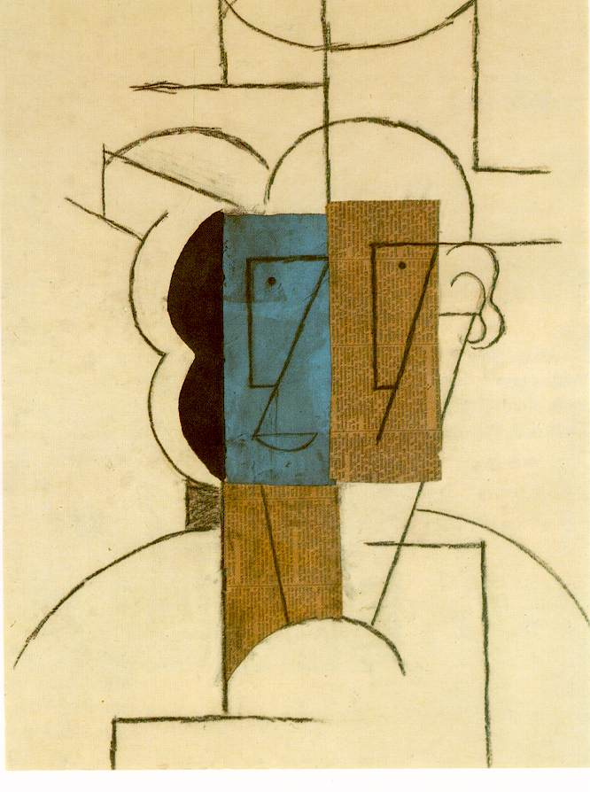 Picasso Head of a man with hat 1912