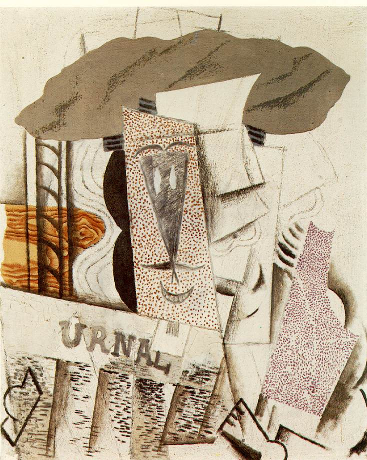 Picasso Student with newspaper 1913