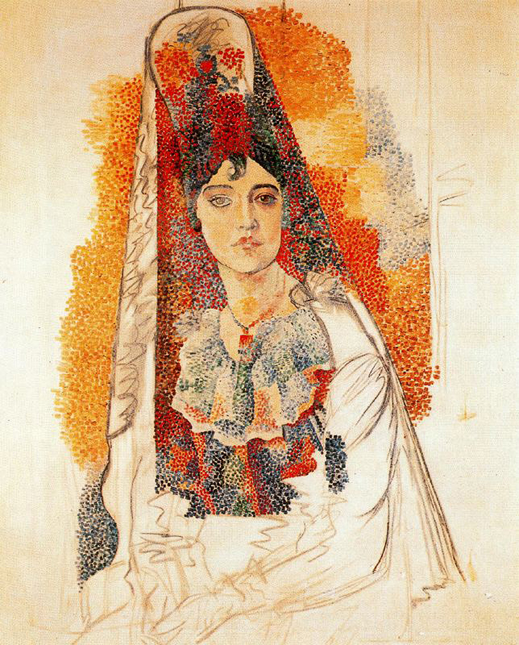 Picasso Woman with mantilla 1917