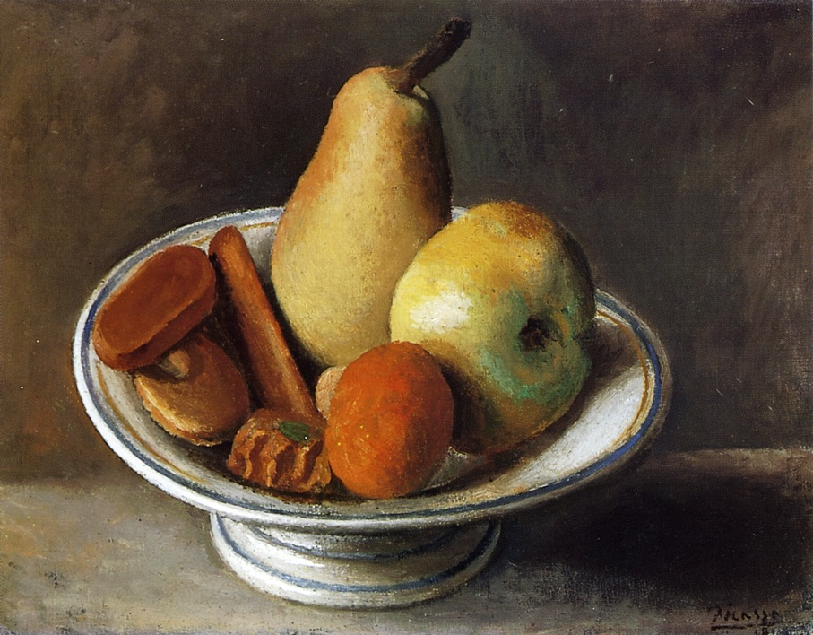 Picasso Fruit Bowl with Fruit 1918
