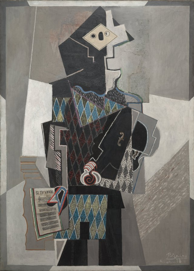 Picasso 1918 Harlequin with Violin