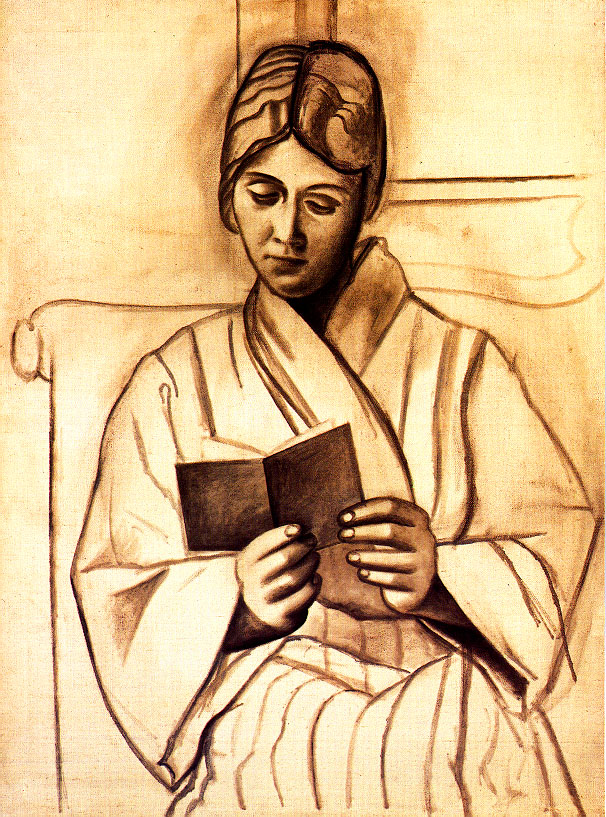 Picasso Woman reading. Olga 1920