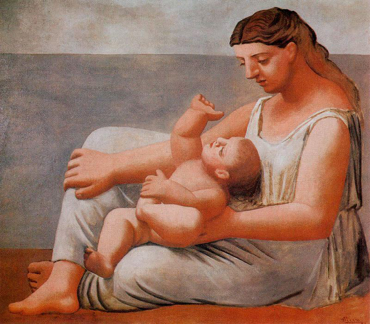 Picasso Woman with child on the seashore 1921