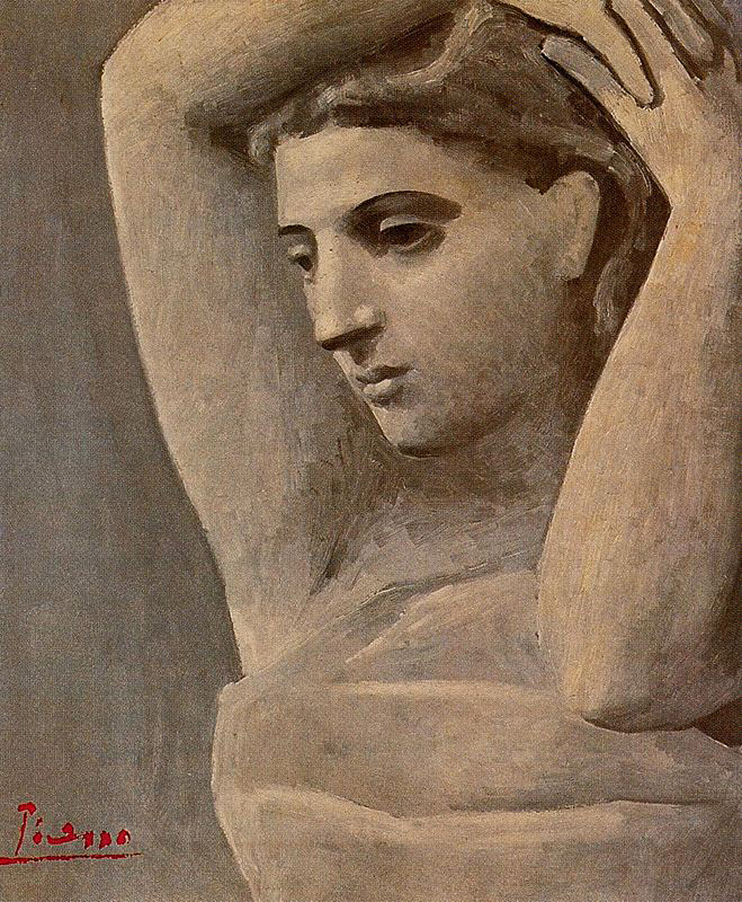 Picasso Bust of a woman, arms raised 1922
