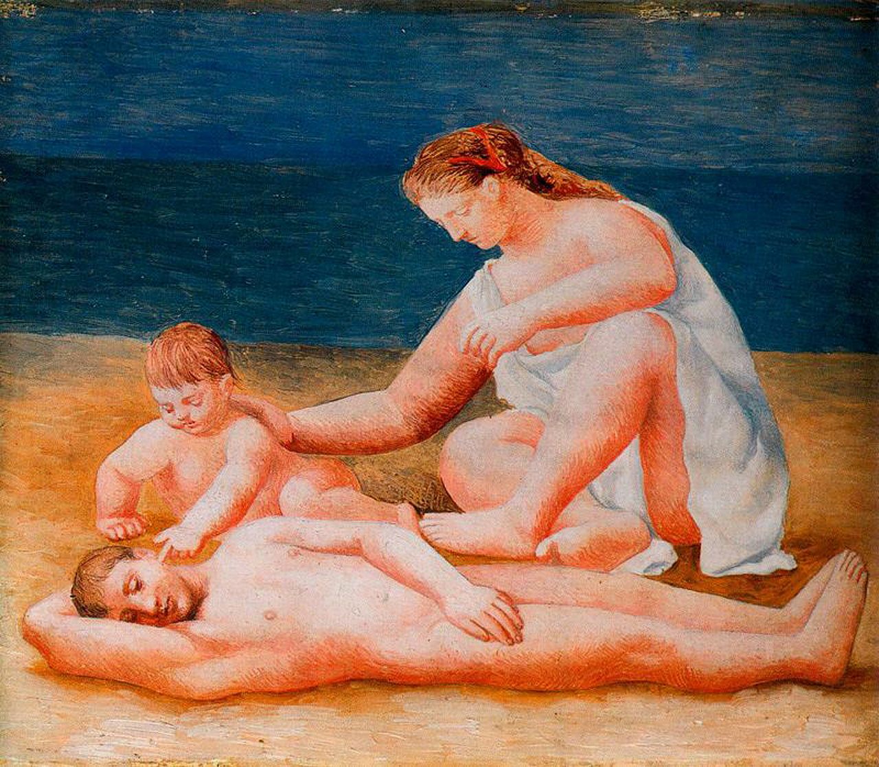Picasso Family at the seashore 1922