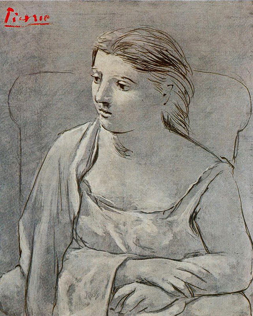 Picasso Woman in white 1923