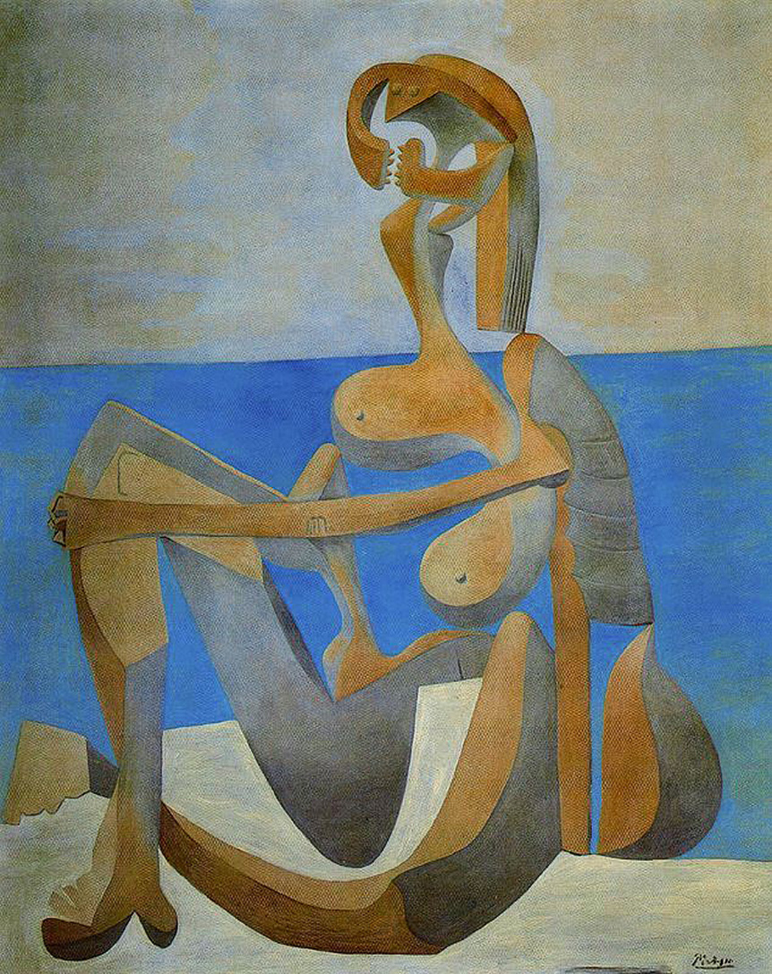 Picasso Seated bather on the beach 1929