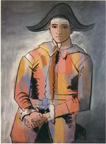 Harlequin with his hands crossed. Jacinto Salvado