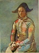 Seated harlequin. Jacinto Salvado