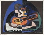 1923 Still Life with a Guitar and a Compote. The Mandolin