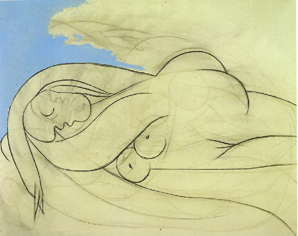 Picasso Lying female nude 1932