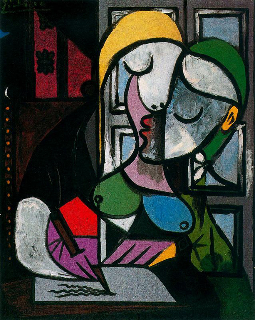Picasso Woman writing 1934