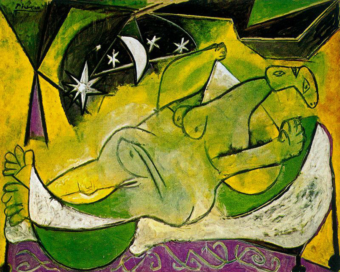 Picasso A reclining female nude 1936