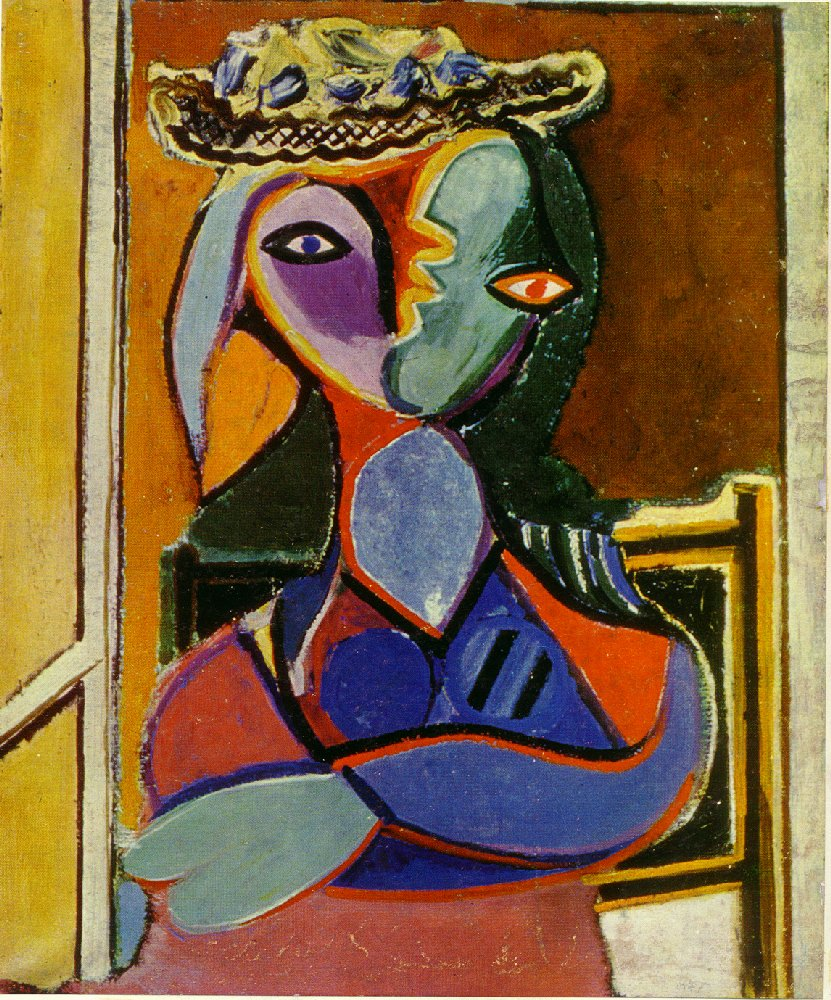 Picasso Femme assise. Seated Woman 1936