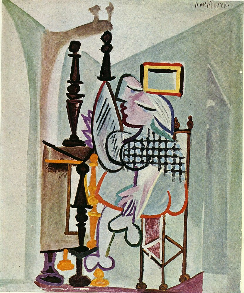 Picasso Woman by the dresser 1936