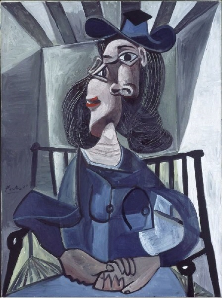 Picasso 1941-1942 Woman with Hat Seated in an Armchair