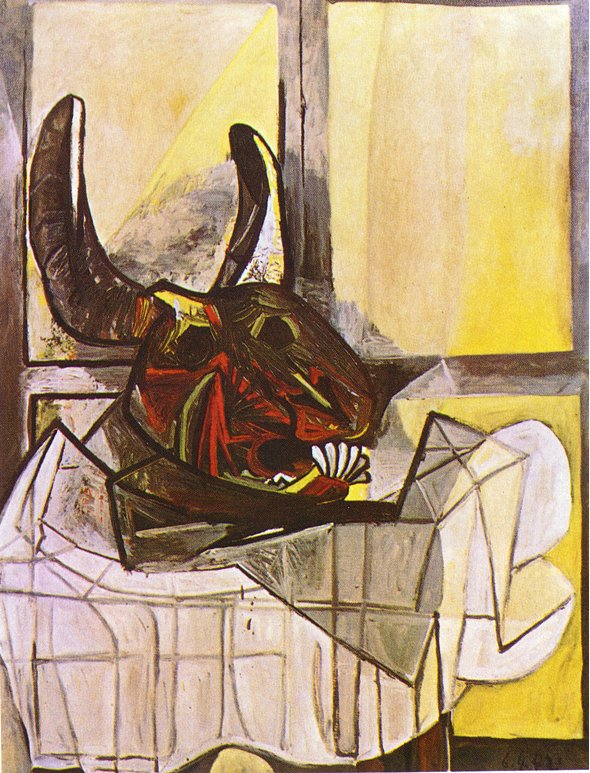 Picasso Bull's head on the table 1942