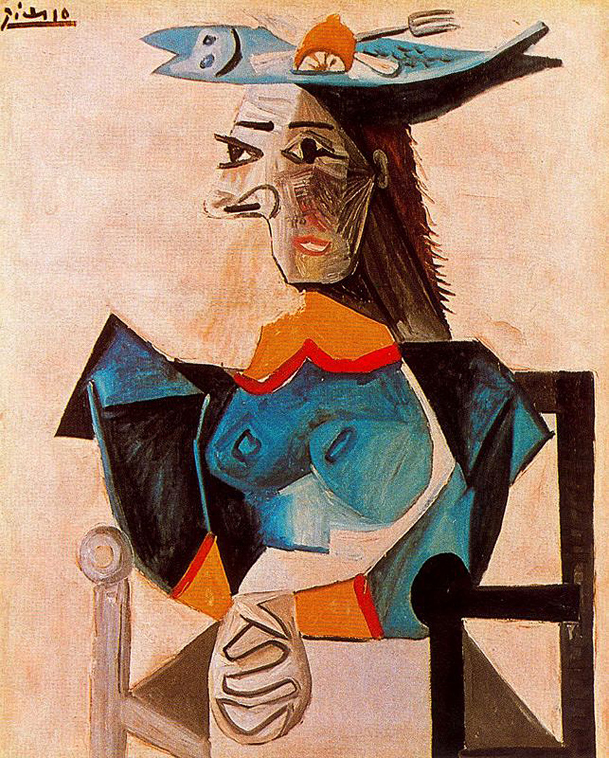 Picasso Seated Woman with Fish 1942