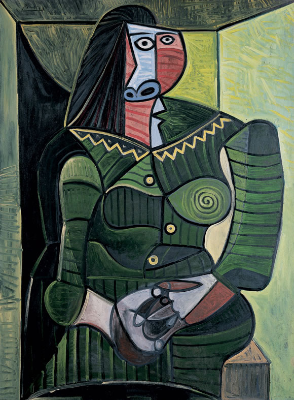 Picasso Woman in green 1943