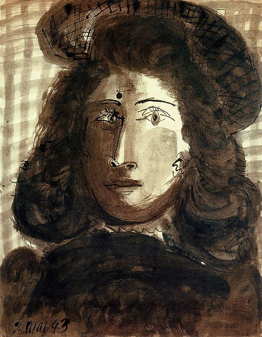 Picasso Woman with hat 1943