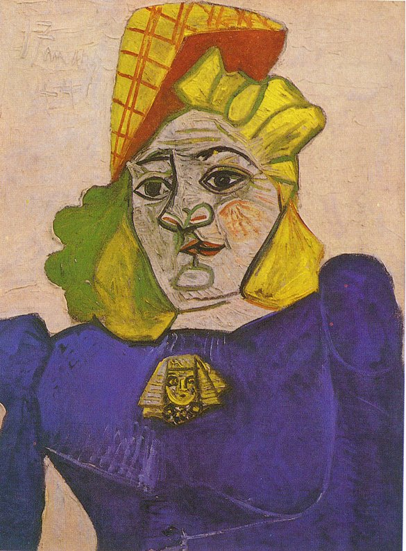 Picasso Woman with brooch 1944