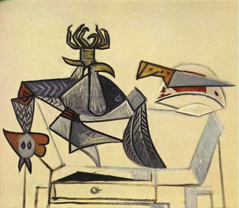 Picasso Cock and knife 1947