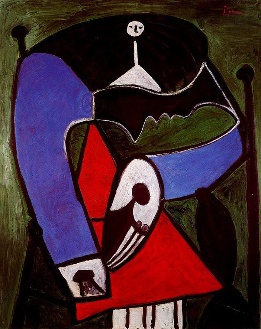 Picasso Woman sitting in an armchair 1948