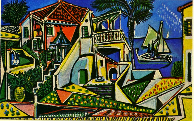 Picasso Mediterranean Landscape 1952 In High Definition On Art Picasso Com