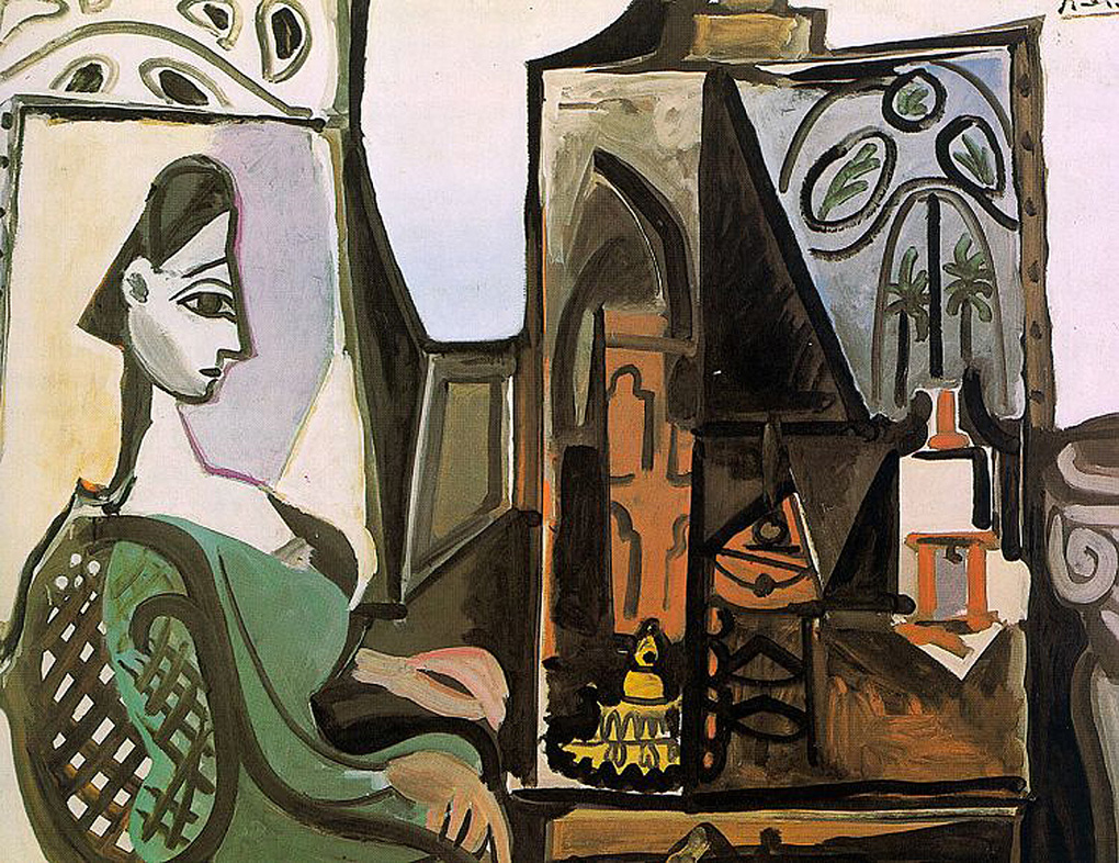 Picasso Jacqueline at the studio 1956