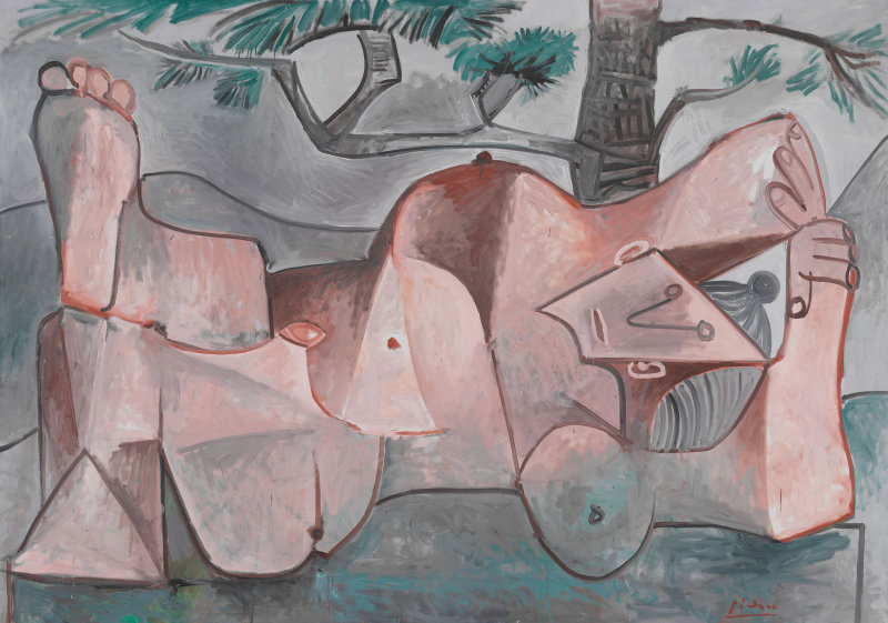 Picasso Lying female nude under the pine tree 1959