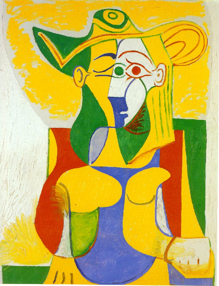 Picasso Woman sitting in an armchair 1962