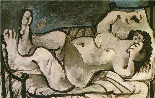 Picasso Lying female nude 1964