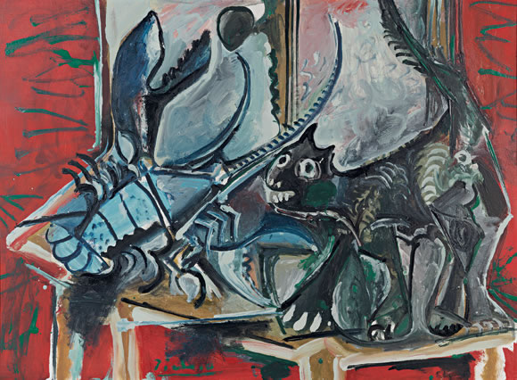 Picasso Cat and Lobster 1965